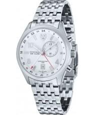 Swiss Eagle SE-9060-22 Mens Field Mission Silver Steel Bracelet Watch