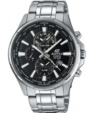 Casio EFR-304D-1AVUEF Mens Edifice World Time Silver Steel Watch