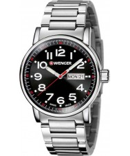 Wenger 01-0341-104 Mens Attitude Silver Steel Bracelet Watch