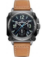 Dogfight DF0005 Mens Experten Brown Leather Chronograph Watch