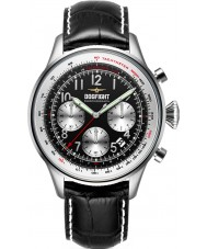 Dogfight DF0033 Mens Wingman Black Leather Chronograph Watch