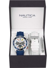 Nautica NAD18530G Mens NST Watch Gift Set