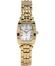 Krug Baümen 1963DLG Tuxedo Gold 4 Diamond White Dial Gold Strap