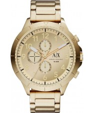 Armani Exchange AX1752 Mens Gold Plated Bracelet Chronograph Sports Watch