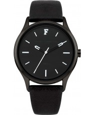 French Connection FC1246BB Ladies All Black Leather Strap Watch