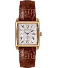 Dreyfuss and Co DGS00142-06 Mens Gold Plated Brown Leather Strap Watch