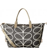 Orla Kiely 0ETCLIN132 Ladies Giant Linear Stem Liquorice Zip Holdall