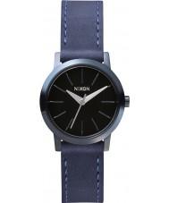 Nixon A398-1930 Ladies Kenzi Leather All Indigo Natural Watch