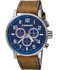 Wenger 01-0343-101 Mens Attitude Brown Leather Chronograph Watch