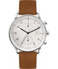 Zoom ZM-7148M-2501 Mens Refine White Brown Watch