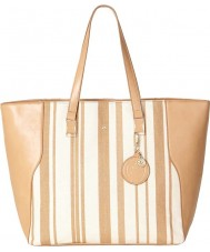 Nica NH6069-STRIPE Ladies Veronica Beige Stripes Tote Bag