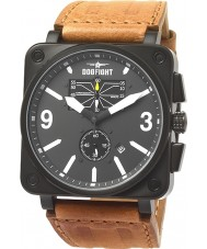 Dogfight DF0043 Mens Wingman Brown Leather Strap Watch