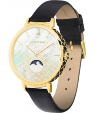 Chriselli Halcyon Days Ladies Agama Moonphase Black Leather Strap Watch