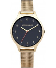 Karen Millen KM118UGMA Ladies Gold Plated Mesh Bracelet Watch