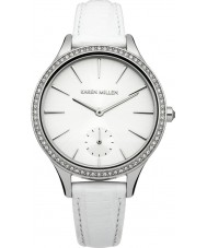 Karen Millen KM112WA Ladies White Lizard Pattern Leather Strap Watch