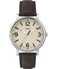 Timex Originals T2P526 Brown Leather Strap Watch