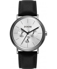 Zoom ZM-7117M-2522 Coffee Moment Silver Black Watch