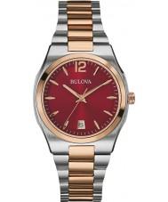 Bulova 98M119 Ladies Dress Two Tone Steel Bracelet Watch