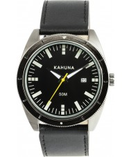 Kahuna KUS-0115G Mens Black Leather Strap Watch