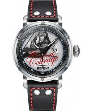 Dogfight DF0042 Mens Pin-Up Black Leather Strap Watch