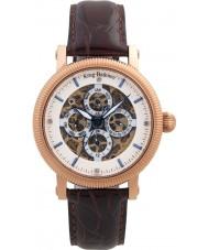 Krug Baümen 60252DM Mens Majestic Brown Leather Strap Watch