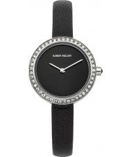 Karen Millen KM146BA Ladies Black Leather Thin Strap Watch