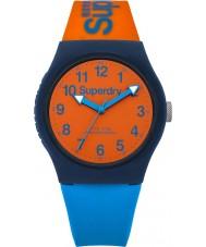 Superdry SYG164MO Urban Blue Orange Silicone Strap Watch