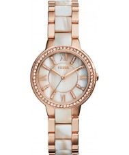 Fossil ES3716 Ladies Virginia Rose and Shimmer Horn Watch