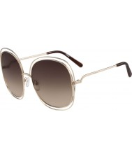 Chloe Ladies CE126S Rose Gold and Brown Sunglasses