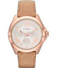 Fossil AM4532 Ladies Cecile Chronograph Sand Leather Strap Watch