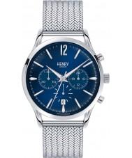 Henry London HL41-CM-0037 Mens Knightsbridge Blue Silver Chronograph Watch