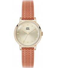 Orla Kiely OK2068 Ladies Patricia Stem Print Red Leather Strap Watch