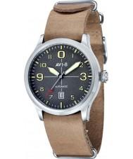 AVI-8 AV-4021-07 Mens Flyboy Automatic Beige Leather Strap Watch