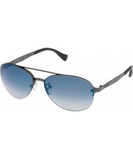 Police Mens Brazen S8956-627B Matt Gunmetal Mirrored Blue Sunglasses