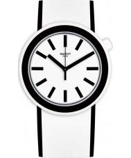 Swatch PNW100 Popmoving White Silicone Strap Watch