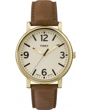 Timex Originals T2P527 Brown Leather Strap Watch