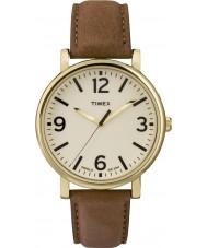 Timex Originals T2P527 Brown Leather Strap Watch
