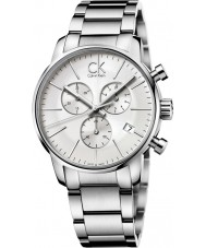 Calvin Klein K2G27146 Mens City All Silver Chronograph Watch