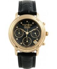 Krug Baümen 150573DL Ladies Principle Diamond Black Chronograph Watch