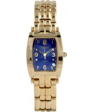 Krug Baümen 1964DMG Tuxedo Gold 4 Diamond Blue Dial Gold Strap
