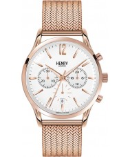 Henry London HL41-CM-0040 Mens Richmond White Rose Gold Chronograph Watch