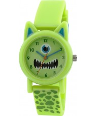 Tikkers TK0095 Boys Green Silicone Monster Watch