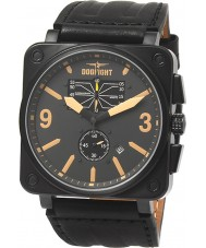 Dogfight DF0044 Mens Wingman Black Leather Strap Watch