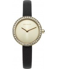 Karen Millen KM146BGA Ladies Black Leather Thin Strap Watch