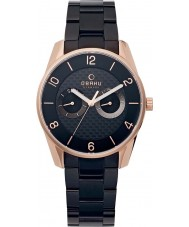 Obaku V171GMVBSB Mens Multifunction Black Steel Bracelet Watch