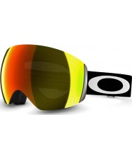 Oakley 59-709 Flight Deck Matte Black - Fire Iridium Ski Goggles