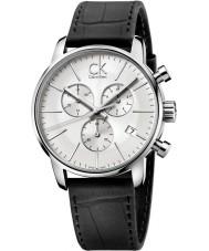 Calvin Klein K2G271C6 Mens City Silver Black Chronograph Watch