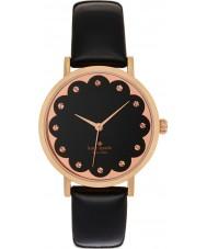Kate Spade New York 1YRU0583 Ladies Metro Black Leather Strap Watch