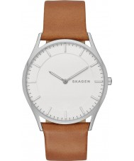 Skagen SKW6219 Mens Slim Holst Tan Leather Strap Watch