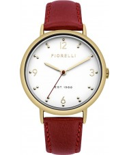 Fiorelli FO024R Ladies Red Leather Strap Watch